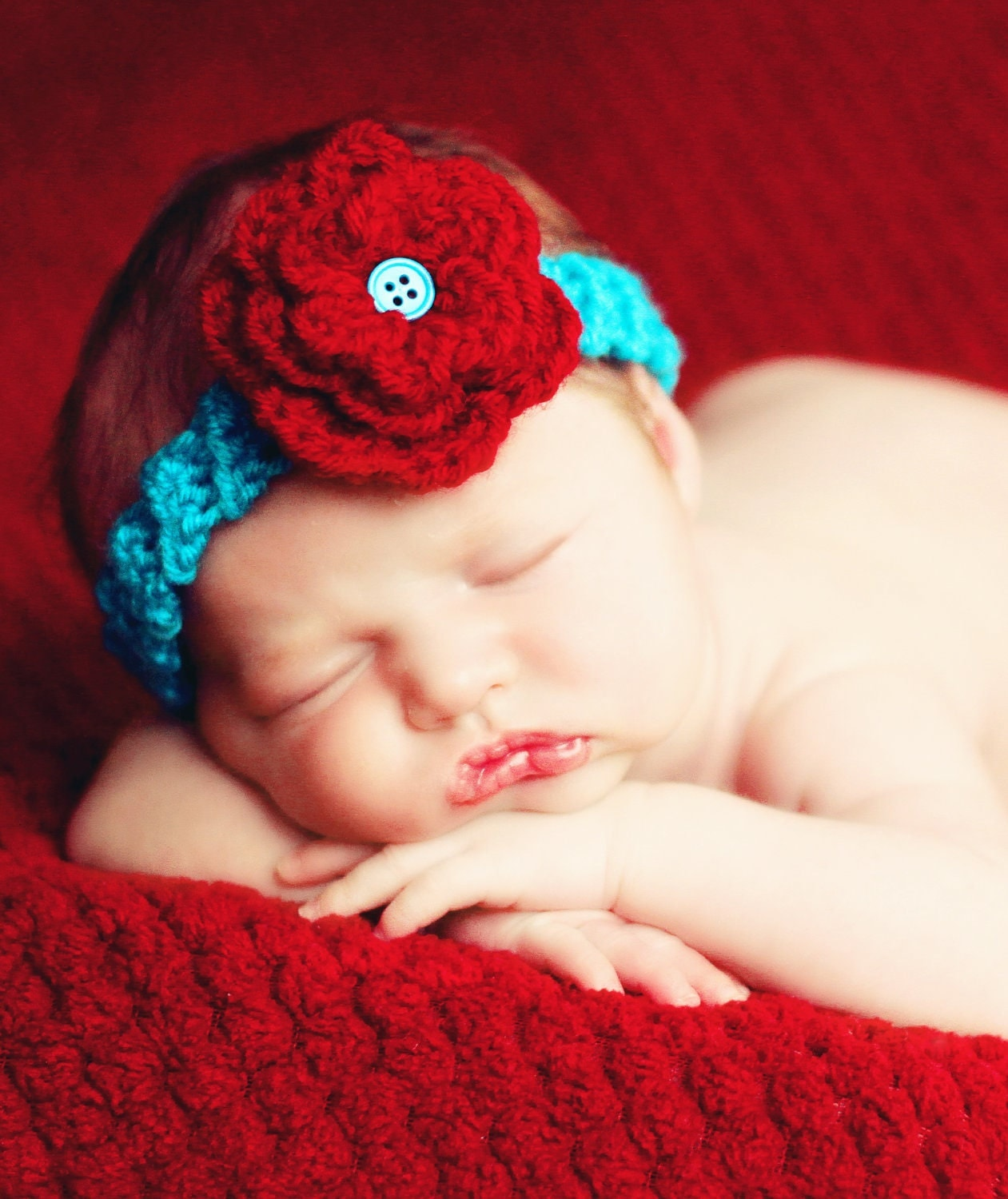Crochet Headband Pattern Newborn : Hat Easy CROCHET PATTERN Baby Child Headband with Triple