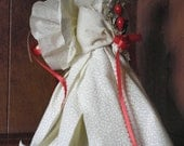 Christmas angel tree topper or  table centerpiece