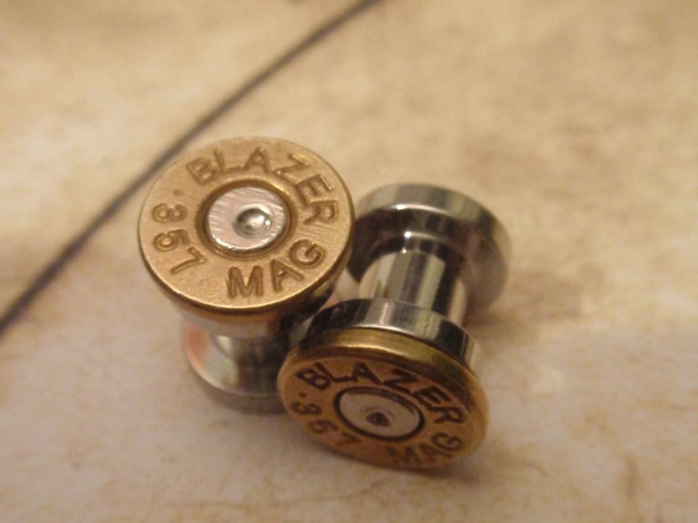 bullet ear plugs 357 magnum bullet plugs earrings bullet shell