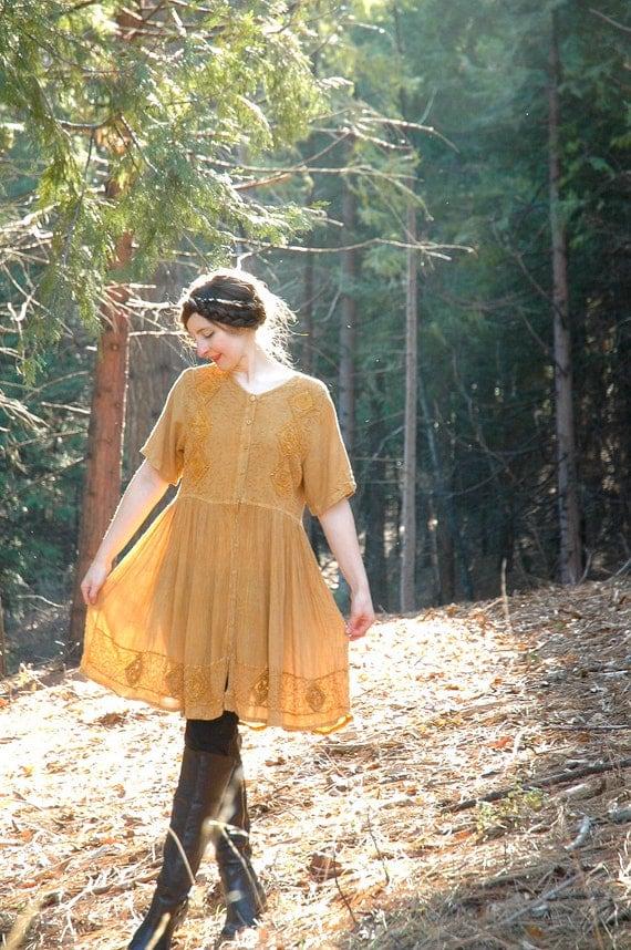 Indian Dress... Ethnic Dress... Mustard Yellow... BEAUTIFUL DREAMER (m)