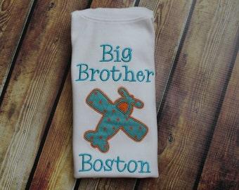 Big Brother Shirt - Big Brother Airplane Shirt - Big Bro Shirt - Big Brother Little Brother Shirts - Vintage Airplane