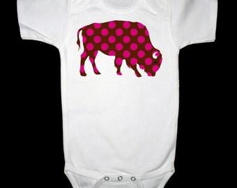 Pink Polka Dot Buffalo Shirt or Bodysuit
