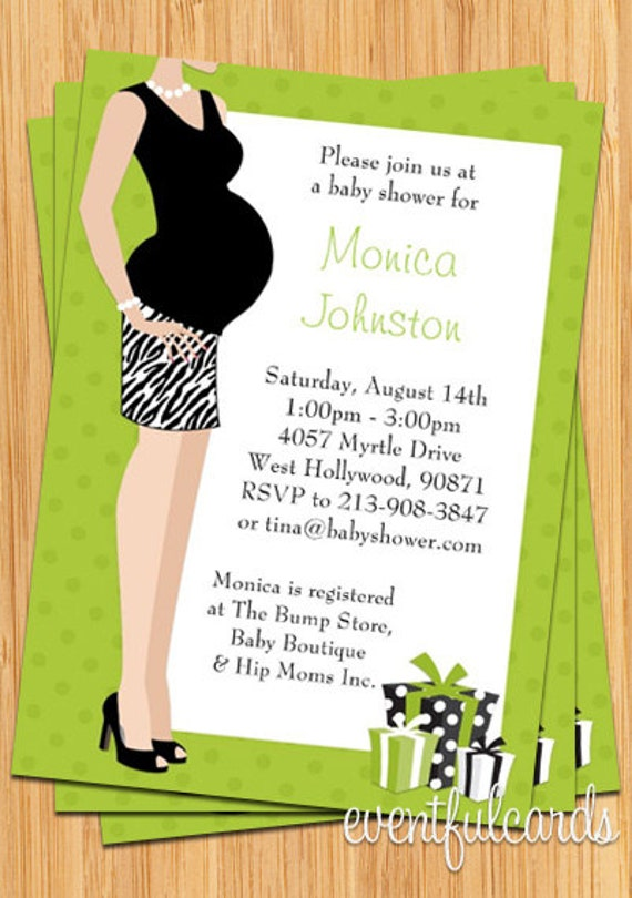 Green Unisex Baby Shower Invitation Print Yourself