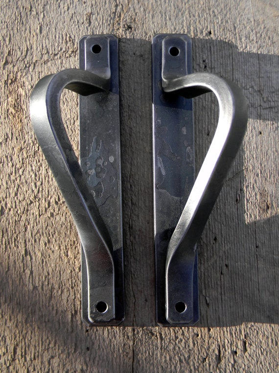 Forged Steel Interior Door Handles With Attached Backplate And