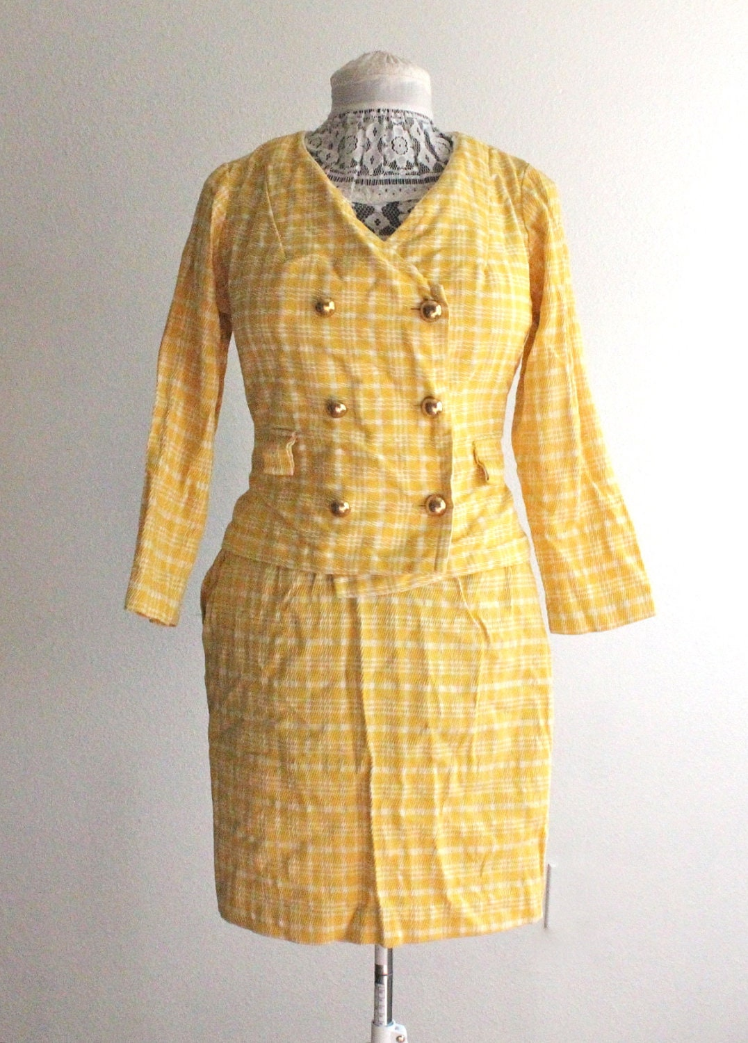 Find yellow plaid skirt suit for your sweet home here at Beddinginn. Fast worldwide shipping and high quality at affordable prices! Get yellow plaid skirt suit to match your decor now!