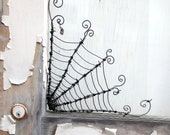 "Twisted 12""  Barbed Wire Corner Spider Web For Halloween"