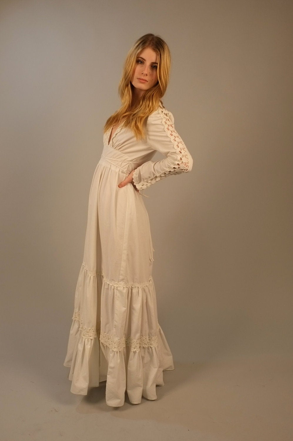 Vintage 1970s Gunne Sax Maxi Wedding Dress