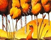 The Fox in The Fall 5x7 Print