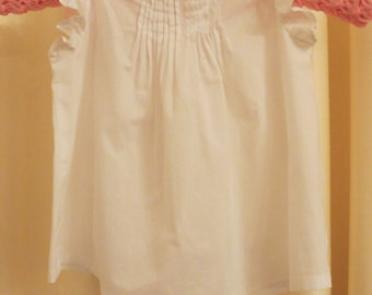 Vintage 70s 80s Baby Girl White Summer Baby Doll Style Dress