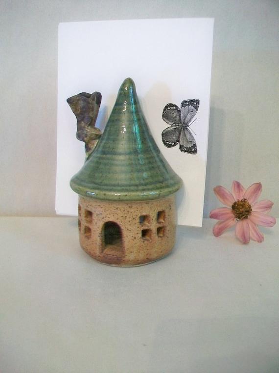 Little House Mail Holder - Also a Sponge Holder , Christmas Cards, Photos, Napkins