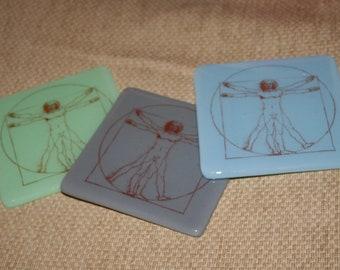 Vitruvian Man coaster - made to order