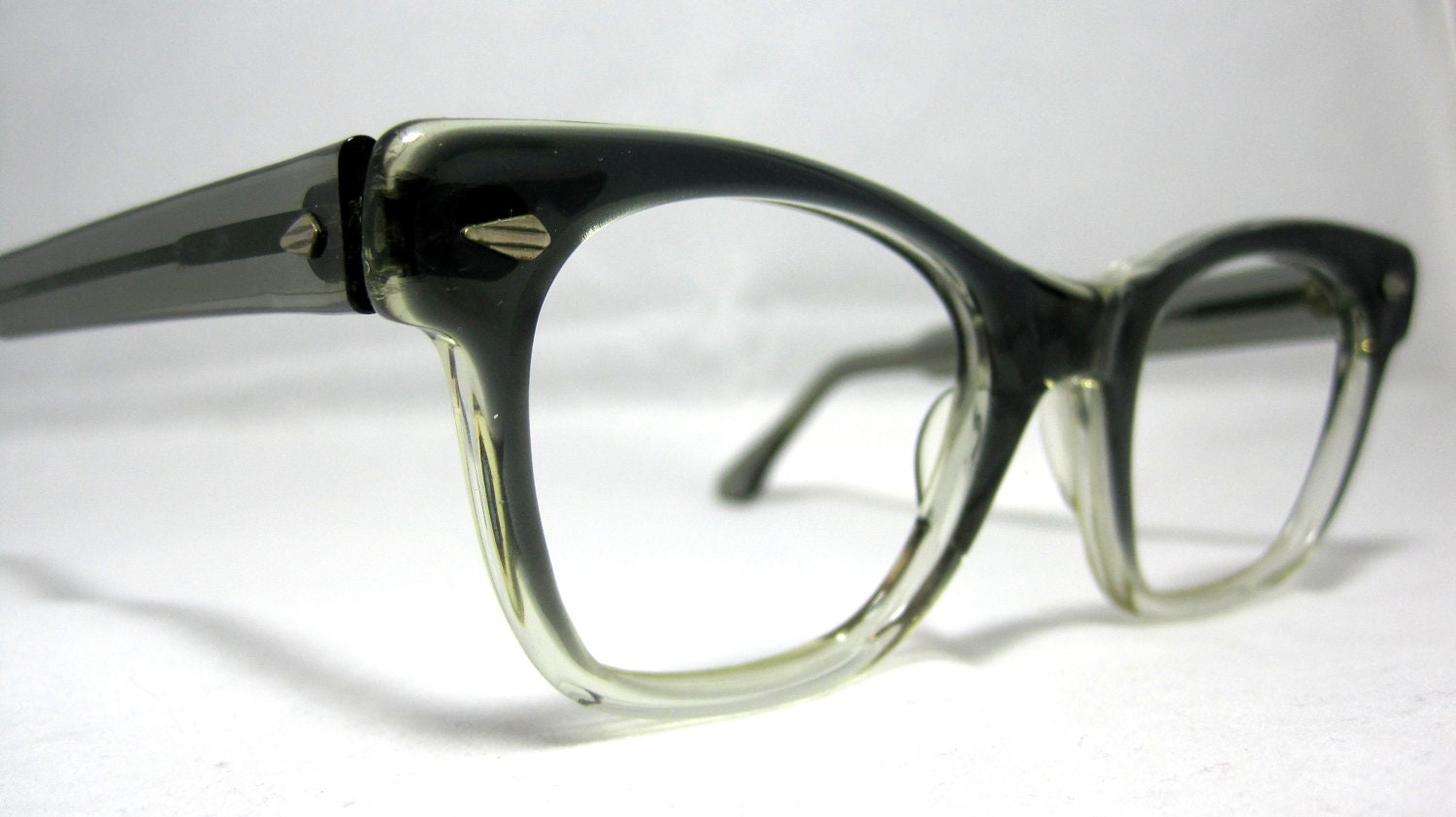 Eyeglass Frames Fairview Heights Il : Vintage EyeGlasses Frames Mens Gray Smoke by ...