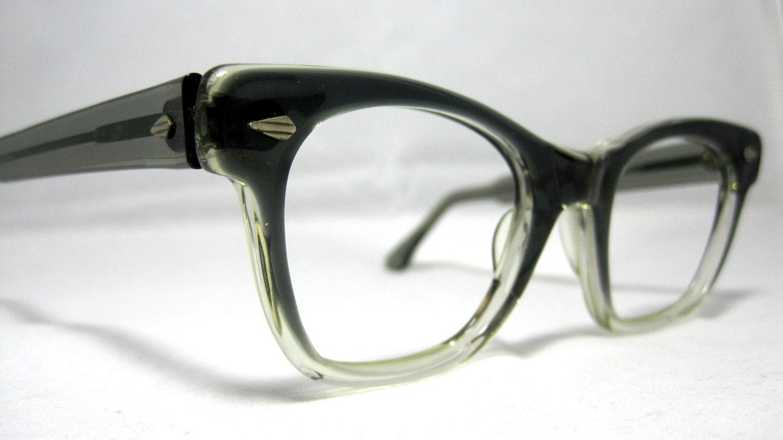 Vintage Eyeglass Frames Maine : Vintage EyeGlasses Frames Mens Gray Smoke Fade. Horn Rim