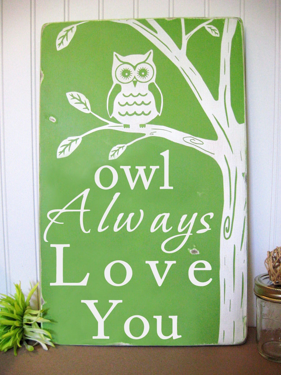 Owl Always Love You Beautiful Wall Art Sign by ToeFishArt ...