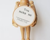 Embroidery Hoop Art - You make me (ADJECTIVE) - Mad Lib Inspired