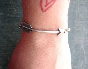 arrow bracelet - silver