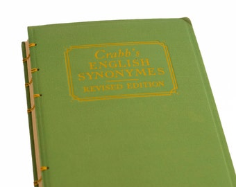 1917 ENGLISH SYNONYMES Vintage Notebook Journal Revised Edition