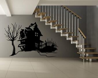 Vinyl Wall Decal Sticker Spooky House OSMB652s