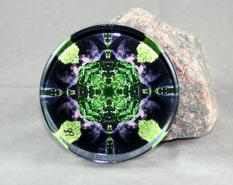 Bear Glass Paperweight Boho Chic Mandala New Age Sacred Geometry Hippie Kaleidoscope Unique Boss Gift Teacher Gift Mod Bear Essentials