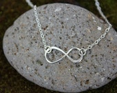 Infinity Necklace - sterling silver infinity sign and delicate chain - Eternal - Endless - Forever - Infinite - Free Shipping in USA**