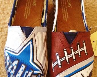 Custom Painted Dallas Cowboys Toms