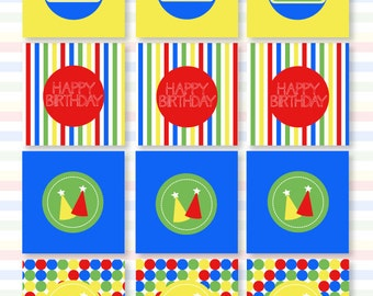 Sesame Street Inspired Party PRINTABLE Party Tags (INSTANT DOWNLOAD) by Love The Day
