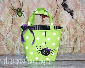 Itsy Bitsy Spider - Trick or Treat Tote Bag - Can Be Personalized