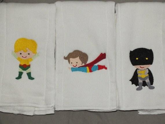 Baby Super hero burp cloth set of 3