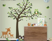 Wall Decal - Tree Wall Decal - Owl and Tree Wall Decal - Tree Decal - Nursery Wall Decal - Wall Stickers - Children Wall Art - 0075