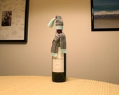 Crochet Pattern - Scarf and Hat set for Wine Bottles