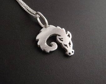 Dragon Pendant - Curled-up Baby Dragon - Silver Pendant - Dragon jewelry