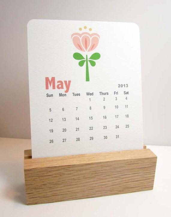 Calendario da tavolo 2017 indipendente legno di maddesign - Calendario 2017 da tavolo ...
