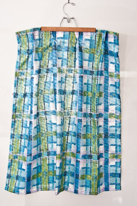 Mid Century Modern Pinch Pleat Curtain Panel by WanderlustSupplyCo
