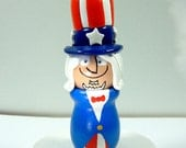 Uncle Sam Handmade Wood Figure - READY TO SHIP