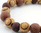 Wood Grain Bracelet Tribal Look