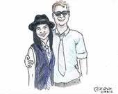 Custom Couple Colored Pencil Illustration from your Photo