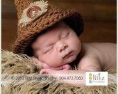 Baby Hat, Newborn Boy Hat, Scarecrow Hat, Newborn Hats, Newborn Photo Props, Newborn Photography Prop, Baby Boy Hats