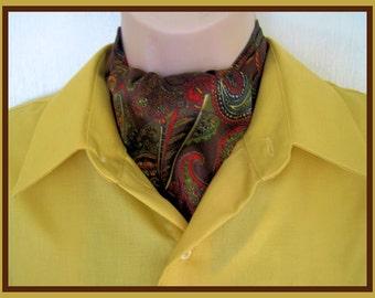New Ascot Tie Cravat. Elegant Formal wear or Classy Casual Wear