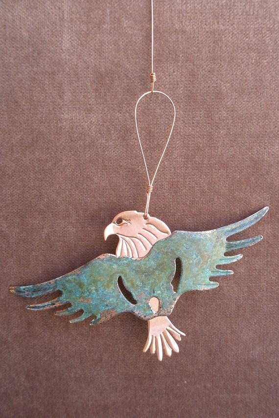 EAGLE Copper Verdigris Ornament - Handcrafted in The Copper State (Arizona USA)