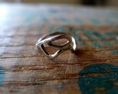 Sterling Silver Abstract Ring Size 5 to 5.5