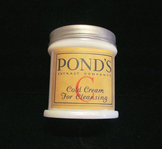 Antique Jar Pond's Jar Pond's Cold Cream Jar Vanishing Cream Jar Milk Glass Jar 1900's Jar Vintage Jar Vanity Accessory