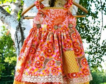 Girls Apron Knot Dress Size 4