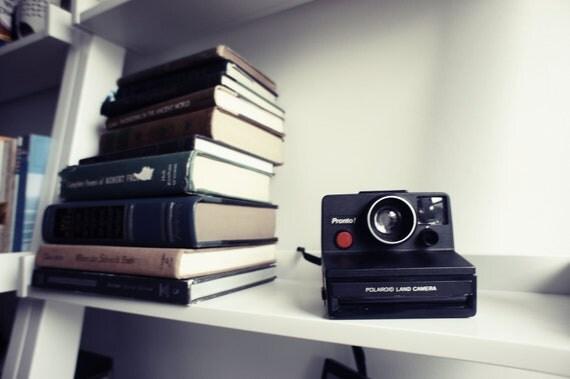 Black Polaroid Camera Pronto SX-70 - Film Tested Working