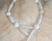 TUBULAR TOO felted cat hair necklace