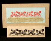 crabs rubber stamp