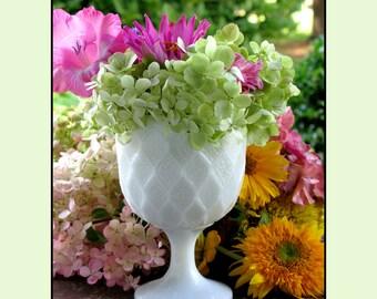 Milk Glass Wedding Planter