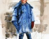 Johnny Boy Circa 1927---Watercolor By Ray Lockhart
