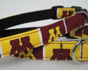 Minnesota Golden Gohpers U of MN Gophers Sports Dog Custom Collar by Collars for Canines