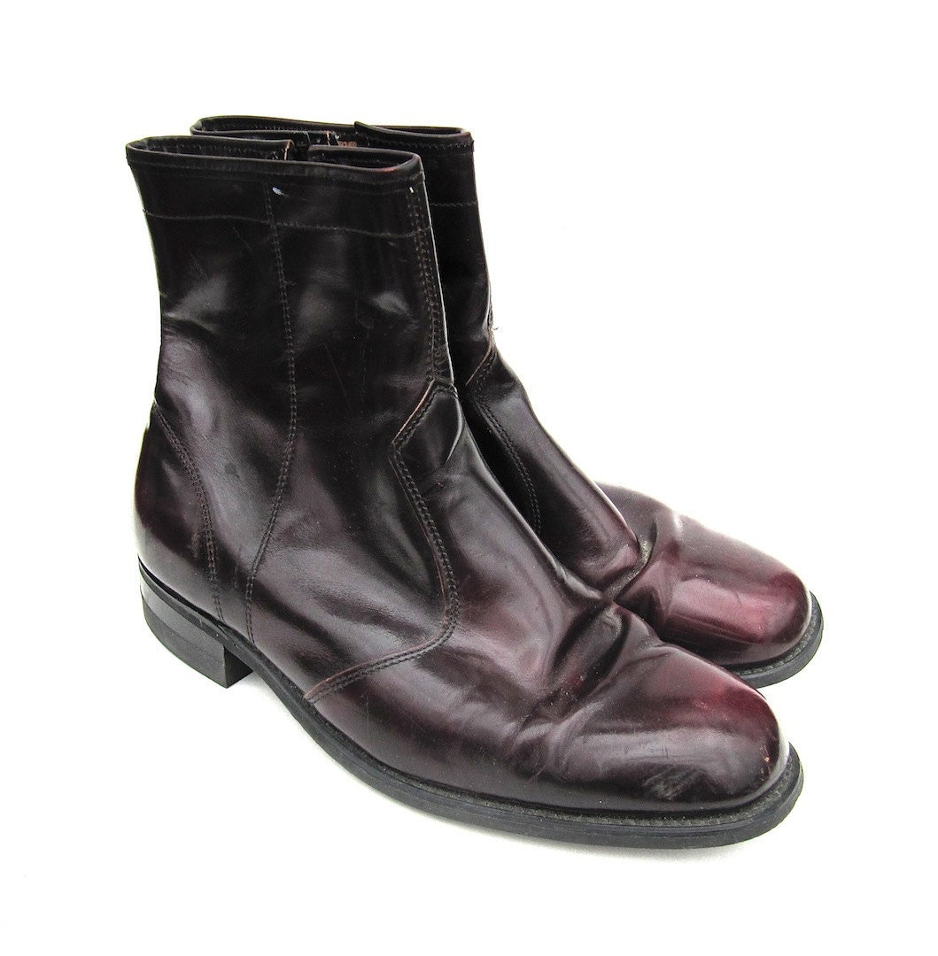 beatle boots shoes s size 8 3e by worldvintagefashion