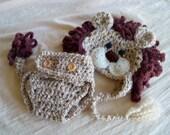 Lion Hat and Cover Set - Baby Lion Hat - Halloween Costume - Lion Hat Set - by JoJosBootique